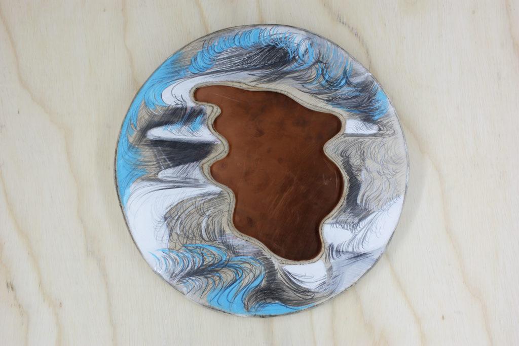 POZO. t. mixta s. madera y plancha de cobre. 49 cm diametro--
