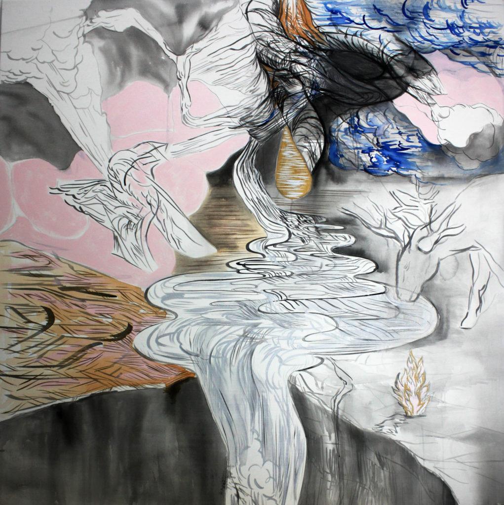 fuente 07 -t.mixta s.tela -150 x 150 cm 2012 --