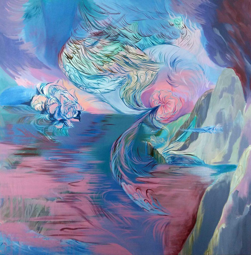 01 Resonancia_acrilico_s_tela_150 x 150 cm. 2019